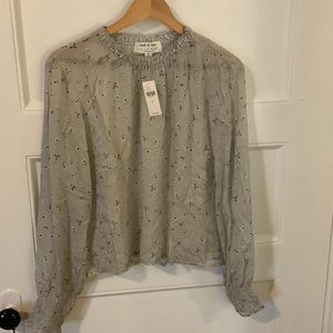 NWT Anthropologie/Cloth & Stone Floral Top